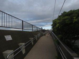 照ヶ崎海岸 堤防