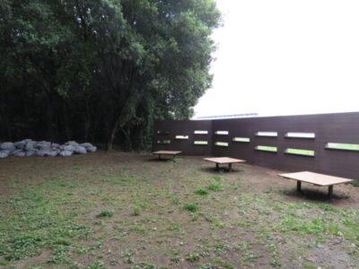 大井ふ頭中央海浜公園 野鳥観察壁