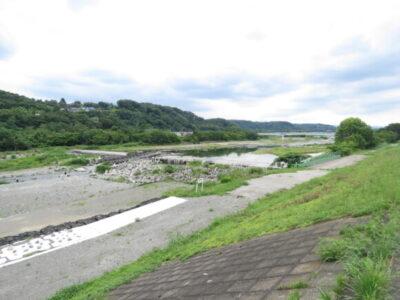 羽村堰 下流の堰